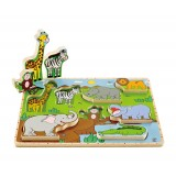 Wild Animal Stand Up Puzzle